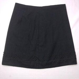 Loft A Line Skirt With Lace Detail Hem